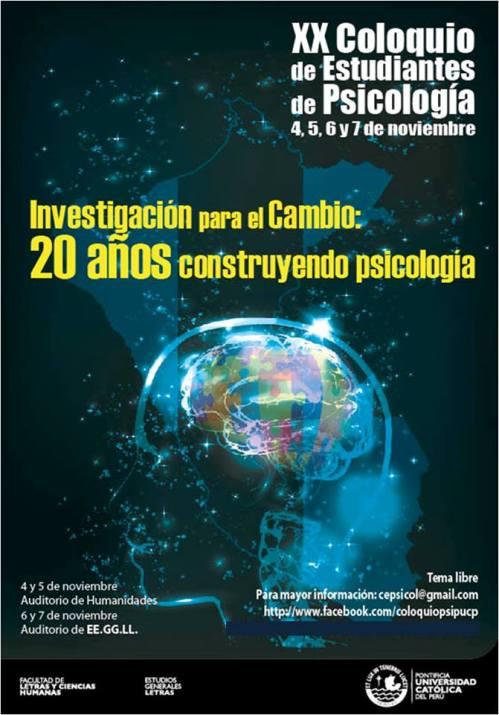 XX Coloquio de Psicología PUCP